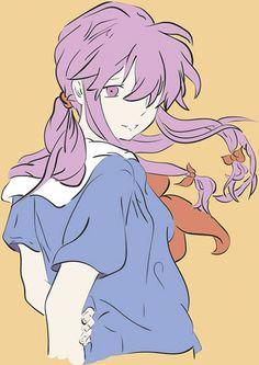 Gasai Yuno del anime de Mirai Nikki  Hecho con el programa Adobe Illustrator y con el pincel