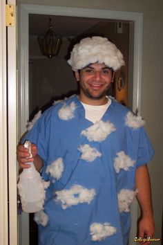 """Partly Cloudy with a """"Chance"""" of rain. LOL what a funny costume. Gotta remember this for Josh next year"""