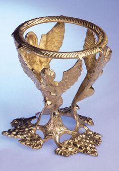 Kristallkugelständer Engel Messing Ø 11 cm Höhe 13 cm Glaskugel-Ständer A102895