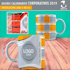 DISEÑOS CALENDARIO 2019 PARA SUBLIMAR TAZAS Kettle, Kitchen Appliances, Tableware, Creative, Dragon Ball, Personalized Mugs, Frases, Yearbooks, Personalized Cups