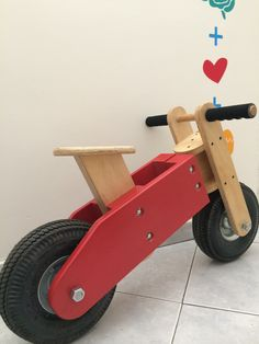 Woodworking For Kids, Woodworking Projects, Wood Projects, Projects To Try, Wood Bike, Bois Diy, Balance Bike, Kids Wood, Wood Toys