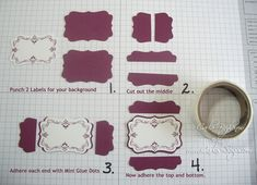 How to Frame the XL Decorative Label Punch (2)