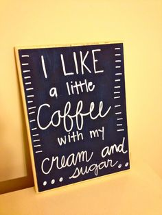 Coffee Quote Sign on 9x12 Wood Plaque Kitchen by TimeandTurquoise, $22.00
