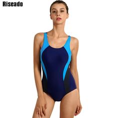1df5b8f8 Riseado One Piece Women's Swimsuit Competition Swimwear Women Splice  Backless Swim Suit Sports Bathing Suits