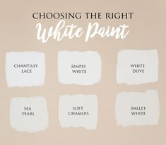 Choosing the Right White Paint   Benjamin Moore