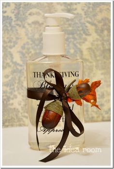 Thanksgiving Craft Soap Bottle from snap creativity.com  Could use this idea for Christmas.