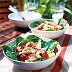 Hot and Cold Chicken and Spinach Salad Recipe | MyRecipes.com