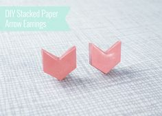 I had a similar idea to this. DIY paper earrings. Cheap and plus you can recycle paper! Eco-friendly I say.