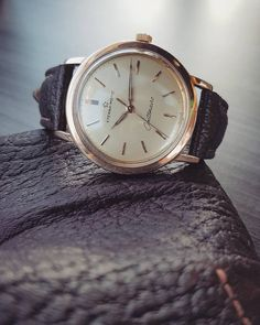 1950s Vintage Eterna Centenaire in Rose Gold with a beautiful cream dial.