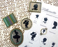 Free Printable pdf. Silhouette Templates ~ these are great for heritage pages ~ Tons to choose from!
