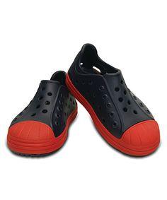57c46de44 Crocs Navy   Flame Bump It Shoe