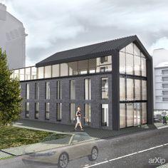 Реконструкция здания: архитектура, зd визуализация, 3 эт | 9м, минимализм, ресторан, кафе, бар, столовая, 200 - 300 м2, фасад - кирпич, каркас - ж/б, здание, строение, архитектура #architecture #3dvisualization #3floors_9m #minimalism #restaurant #cafe #bar #diningroom #200_300m2 #facade_brick #frame_ironconcrete #highrisebuilding #structure #architecture arXip.com