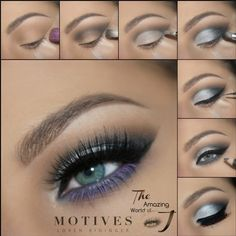 Snow Bunny, blue eyeliner, purple gloss, sparkle eyeshadow, eyeshadow, lipstick, motives