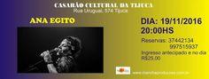 """19/11 ♥ Show Ana Egito e """"O Expresso de Minas"""" ♥ RJ  http://paulabarrozo.blogspot.com.br/2016/11/1911-show-ana-egito-e-o-expresso-de.html"""
