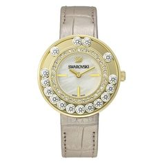 Lovely Crystals Light Gold Tone Watch ❤❤ it? Contact us on WhatsApp 7535 715 239 to order or for any enquiries. See more: This weekend we are showcasing LV, Swarovski, and Adidas including the Y 3 iconic brand, Swarovski Watches, Swarovski Jewelry, Stainless Steel Case, Jewelry Watches, Women's Watches, Fancy Watches, Stylish Watches, Rolex, Bracelet Watch