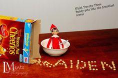 Elf on A Shelf ideas.