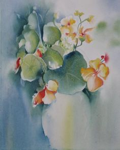 Watercolor Painting Print Flower Still Life by NancyKnightArt, $20.00