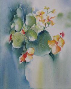 Watercolor Painting Print Flower Still Life by NancyKnightArt, $20.00