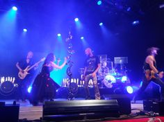 Within Temptation in Veenhoop 29 July 2016. Robert got on stage under Candles.