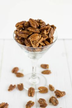 Copycat recipe of the spicy glazed pecans found in Milestone's California Spring Salad.