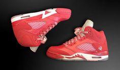 "NIKE AIR JORDAN V STRAWBERRY GS ""VALENTINE'S DAY"" #sneaker"
