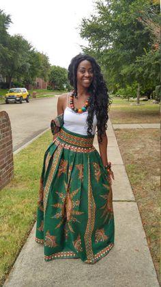 Dashiki skirt dashiki maxi skirt African print maxi by Oludan Women Fashion African Fashion Skirts, African Inspired Fashion, African Print Dresses, African Print Fashion, African Dress, Skirt Fashion, African Dashiki, Ankara Fashion, African Prints