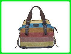 7f8029a1ddda Unives® Retro Canvas Handbag Carry-on Purse Oversized Casual Shoulder Bag  Cross body Hobo