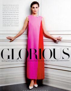 Glorious: #KatiNescher by #KarlLagerfeld for #HarpersBazaar US March 2013