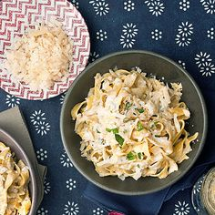 Picture a romantic New Year's Eve: staying in, fancy PJs, good music, Champagne and this creamy pasta in a big bowl with two forks.