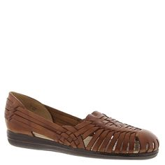 Softspots Trinidad Women N/S Round Toe Leather Brown Fisherman Sandal ^^ Amazing product just a click away  : Sandals