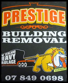 Prestige Building removal use us for their tees! Get your top quality corporate clothing made with us WWW.ColourWorksnz.Com