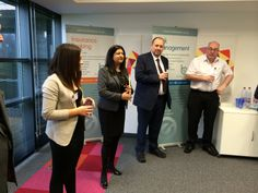 Cassy and Shamshad speaking about our collaboration for Networking @ Pure Offices