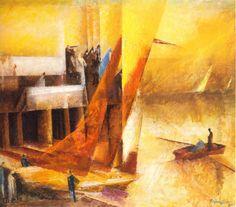 Lyonel Feininger, Stiller Tag am Meer III, 1929 (Private Collection) Harlem Renaissance, Chaim Soutine, Francis Picabia, Georges Braque, Piet Mondrian, Mystique, Art Database, Claude Monet, New Artists