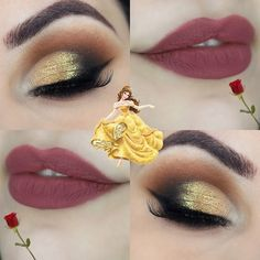 Belle from Beauty and the Beast inspired makeup #makeup #disney #beautyandthebeast