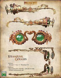 Steampunk goggle 1 by hronnos. #steampunk #victorian #Art #gosstudio .★ We recommend Gift Shop: http://www.zazzle.com/vintagestylestudio ★
