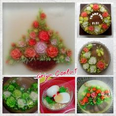 #gelatinadecoradas #puddingart #egg #rose #griyacoklat