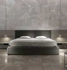 Modern Bedroom Design Inspiration The bedroom is the perfect place at home for relaxation and rejuvenation. While designing and styling your bedroom, Grey Interior Design, Modern Bedroom Design, Master Bedroom Design, Bedroom Bed, Bedroom Furniture, Furniture Design, Bedroom Decor, Room Interior, Bedroom Design Inspiration