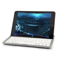 Aluminum Bluetooth Wireless Keyboard With Built-in Stand For iPad Mini( White)