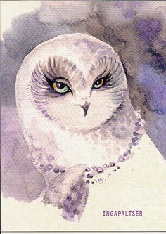 Owl by Inga Paltser Pinned by www.myowlbarn.com