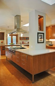 Kitchen Island Built Around Pillar Design Ideas, Pictures, Remodel, and Decor - page 5