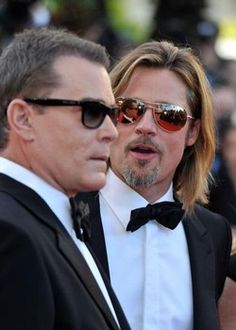 CANNES, FRANCE - Brad Pitt and Ray Liotta at the Killing Them Softly premiere during 65th Annual Cannes Film Festival