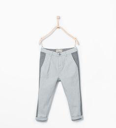 Image 1 of Side stripe chinos from Zara