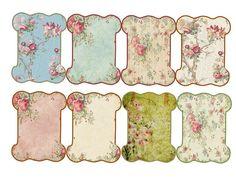 Use of vintage wallpaper styles as background for print Vintage Diy, Papel Vintage, Images Vintage, Vintage Tags, Vintage Labels, Vintage Paper, Vintage Sewing, Vintage Floral, Printable Labels