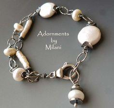 Pearl Medley Bracelet Asymmetrical by ...