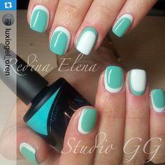 Luxio Soak Off Gel by Akzentz - Mani using Tiffany and Polar