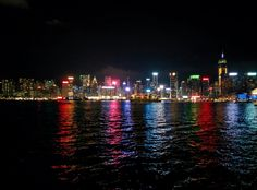 Hong Kong Island View from Victoria Harbour - 2016