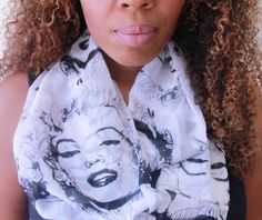 Marilyn Monroe Infinity Scarf by AmberGlamourLand on Etsy, $20.00