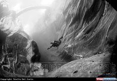 Diving in Verzasca River in Ticino - Switzerland
