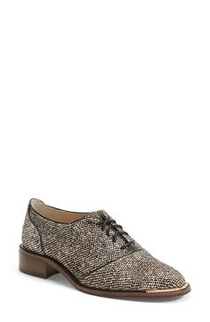 Free shipping and returns on Louise et Cie 'Franny' Oxford Flat (Women) (Nordstrom Exclusive) at Nordstrom.com. A smooth silhouette and streamlined laces enhance the studied sophistication of a smart oxford set on a stacked heel.