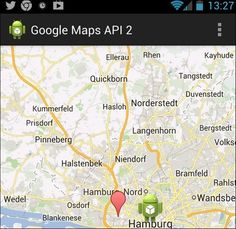 Android App tutorials Google Maps Android API v2 – Tutorial – MORE INFO  This tutorial describes the usage of Google Maps in your Android application. It is based on Eclipse 4.2, Java 1.6 and Android 4.2.